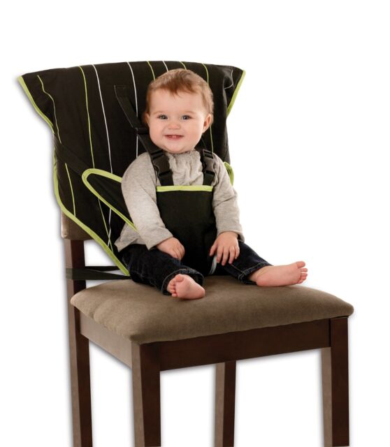 cloth portable high chair black faux leather dining room chairs cozy cover easy seat ebay quick convenient