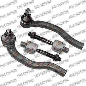 Front New Steering Kit Inner+Outer Tie Rod End For Acura