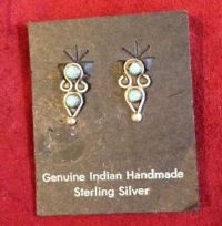 Genuine Indian Handmade Sterling Silver Clip On Earrings ...