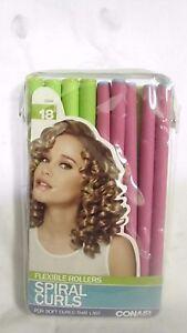 conair spiral curls 18 ct flexible rollers hair curlers ebay