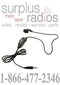 KENWOOD OEM KHS-33 EARBUD HEADSET WITH IN-LINE PTT FOR PKT