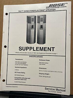 Sound System Repair : sound, system, repair, Service, Manual, Direct, Reflecting, Speaker, System, Repair