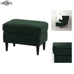 Ikea Chair With Ottoman Covers Tauranga Strandmon Footstool In Dark Green Not Included Ebay Image Is Loading