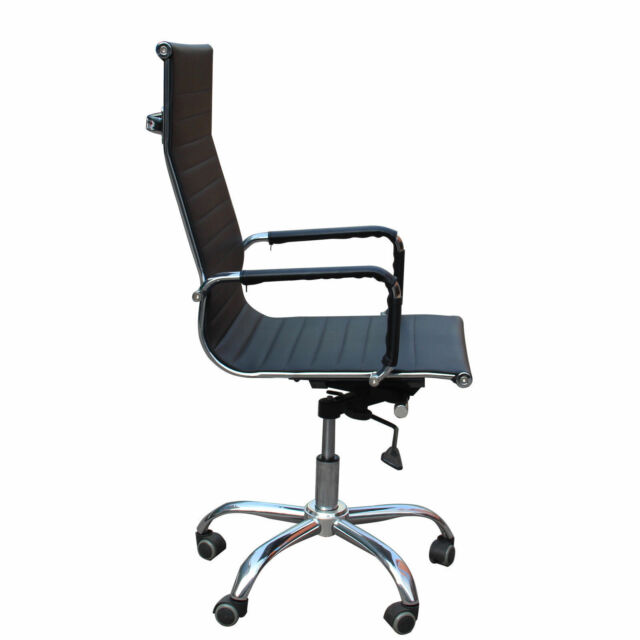 eames arm chair grey floral covers 2pcs office computer ergonomic executive removable pu leather