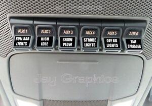 Custom Upfitter Switch Decals  Labels Ford F250 F350