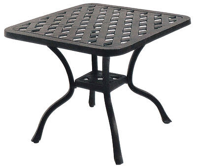 cast aluminum patio furniture end table