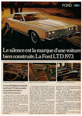 73 Ford Ltd : Vintage, Original, Print, Hardtop, 2-door, Yellow, Photo, Canada