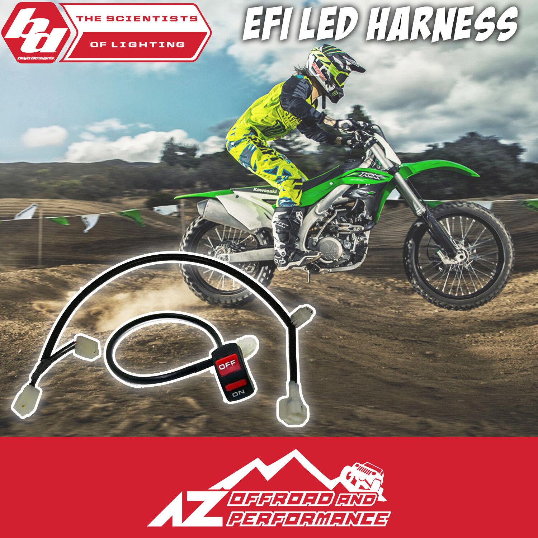 hight resolution of baja designs kawasaki kx250f kx450f 09 led light wiring harness