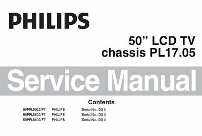 Philips 50PFL6602 50PFL6602 50PFL5922 PL17.05 Chassis