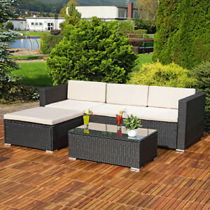 details about rattan garden furniture corner sofa set lounger table outdoor patio conservatory