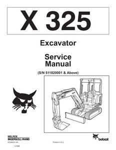 New Bobcat X 325 Excavator 1994 Edition Repair Service