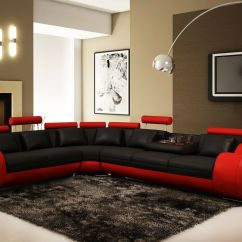 Black And White Sofas Uk Build A Sofa Nova Red Bonded Leather Corner Left Hand Ebay