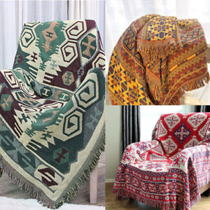 bohemian sofa bed sales toronto 130x180cm cotton throw blanket chair bedspread image is loading