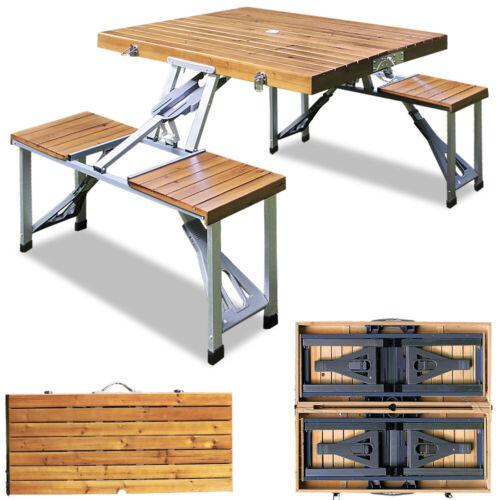 camping mobel ensemble table et chaises en alu pliant 4 places bois pique nique camping salon oliveoil kanakis