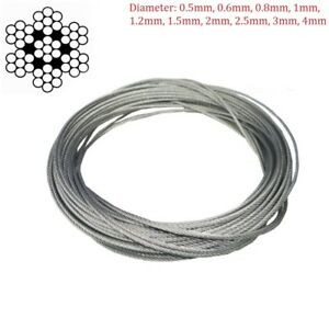 304 Stainless Steel Wire Rope Cable Flexible 0.5mm 1mm 1