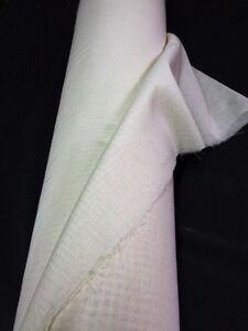 details sur tissu toile a beurre ecru ivoire larg 2m60 coton au metre voilage baldaquin