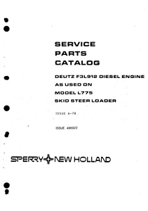 DEUTZ F3L912 / F3L 912 ENGINE Parts Manual PDF file SPARE