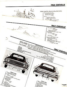 1964 CHEVROLET CHEVELLE EL CAMINO BODY PARTS FRAME MOTORS