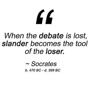 Anti Obama SOCRATES SLANDER TOOL OF THE LOSER Conservative