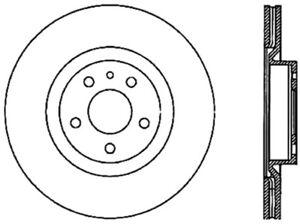 Front Brake Rotor For 1991-1995 Alfa Romeo 164 1993 1992