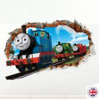 3D THOMAS TANK ENGINE FRIENDS Wall Sticker Vinyl Mural ...