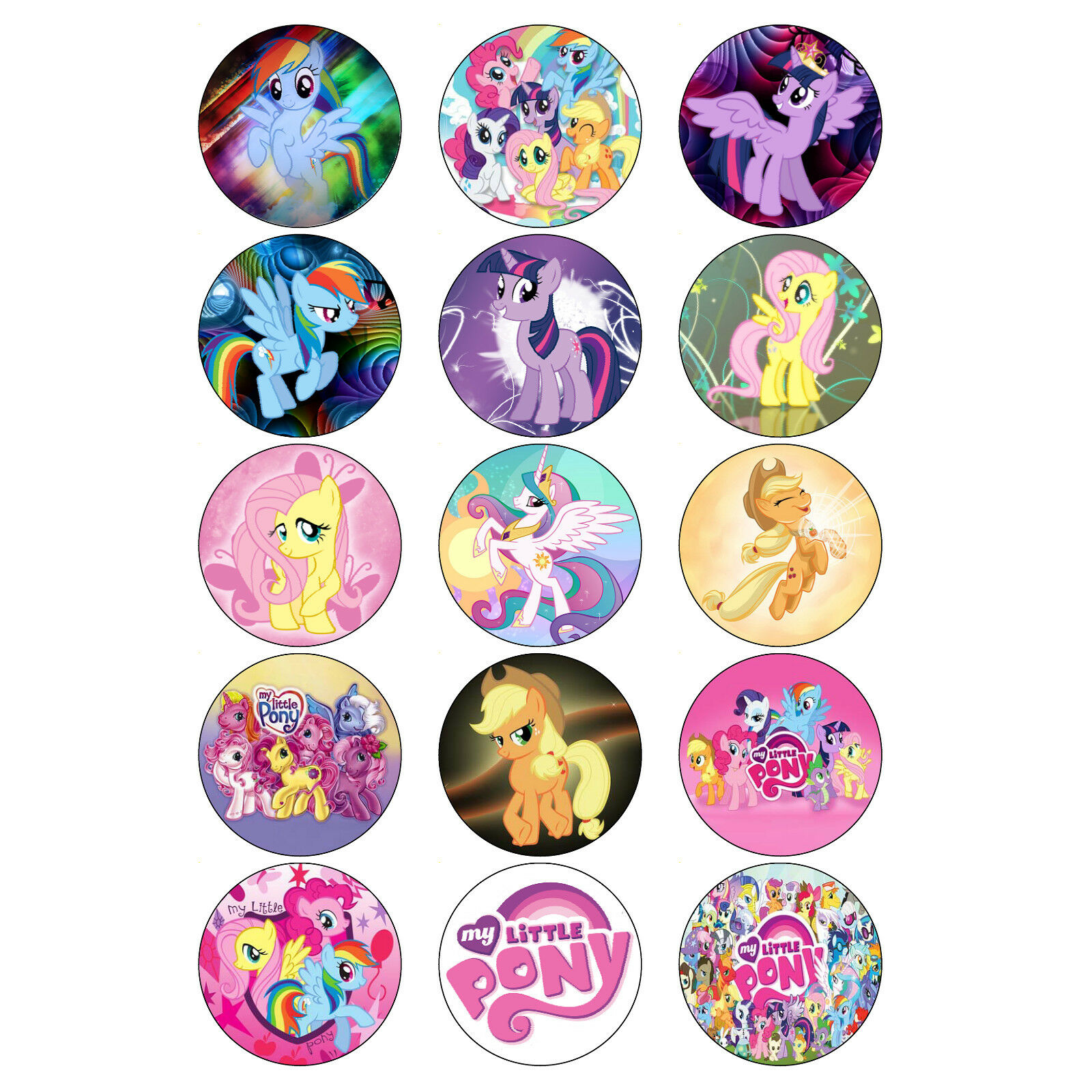 My Little Pony Cupcake Toppers Birthday Party My Little