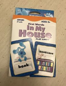 Blue's Clues Words : blue's, clues, words, Blues, Clues, First, Words, Flash, Cards, House