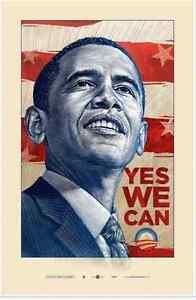 Barack Obama Yes We Can : barack, obama, Barack, Obama, Offset, Print, Antar, Dayal, 39.5