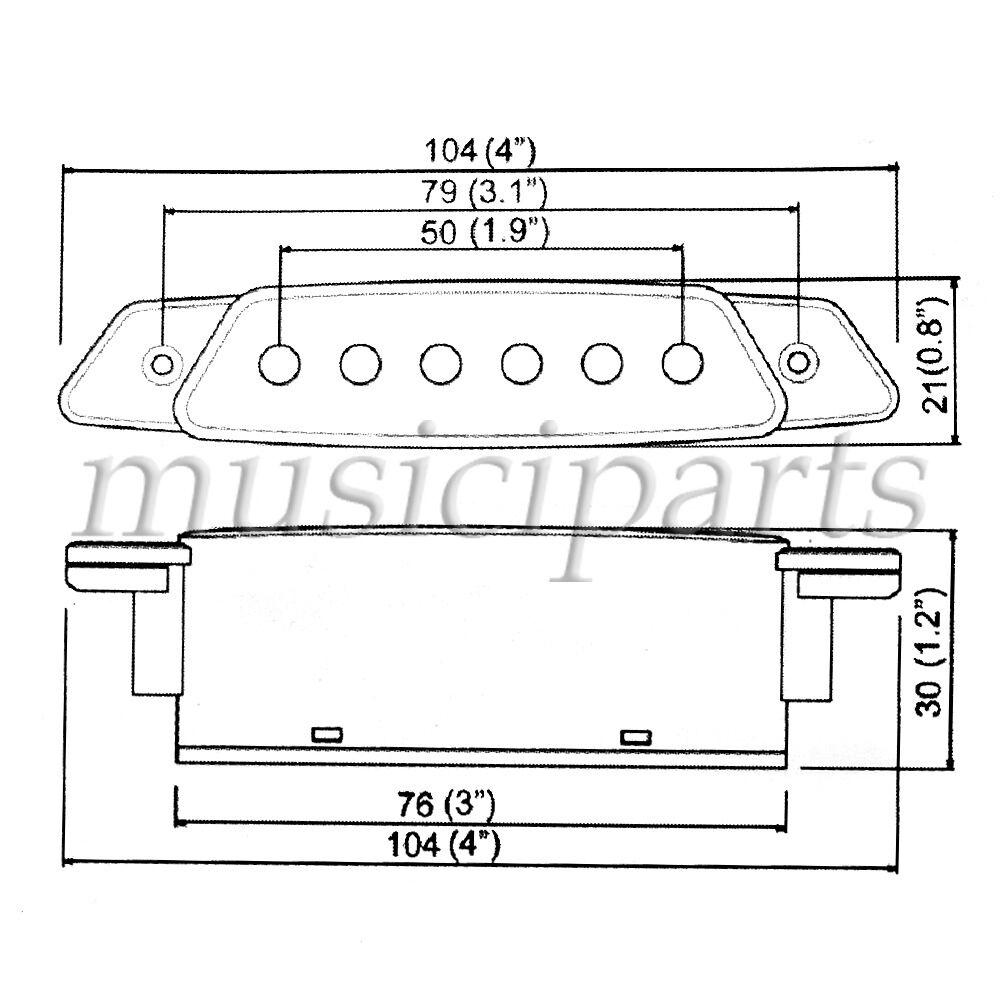 2 Sets Belcat Soundhole Pickups 6 String w/Active Power