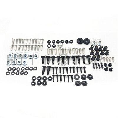 109Pcs Fairing Bolt Kit Body Work Screws For Suzuki GSX-R