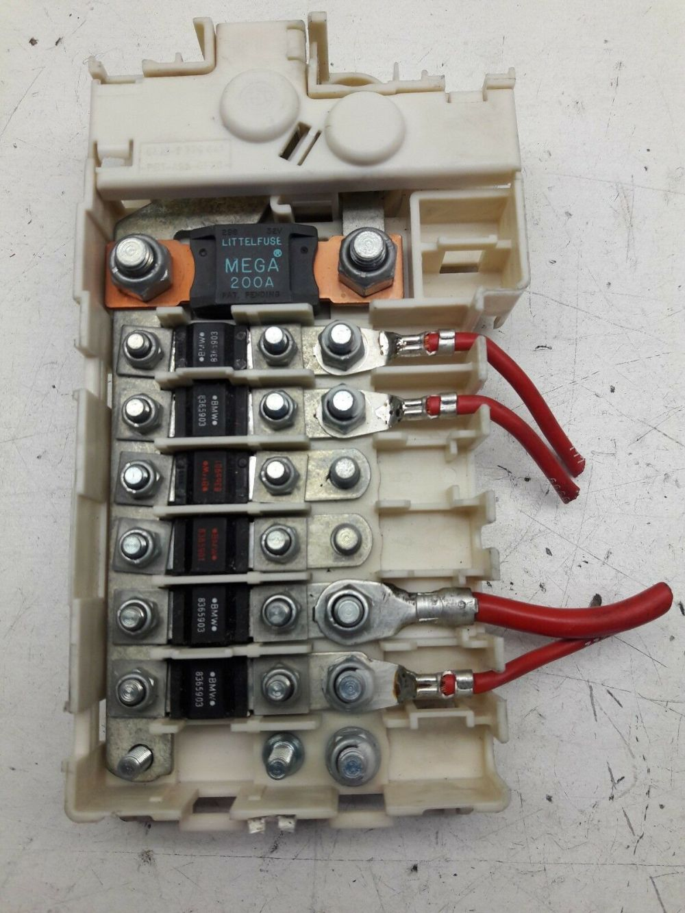 medium resolution of 98 00 bmw 5 series e39 rear cable junction fuse box 61138370638 oem as54 for sale online