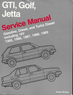 GTI Golf Jetta Service Manual 1985 1986 1987 1988 1989 Gas