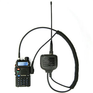 UHF VHF Antenna Handheld Speaker Mic for Kenwood TK3302