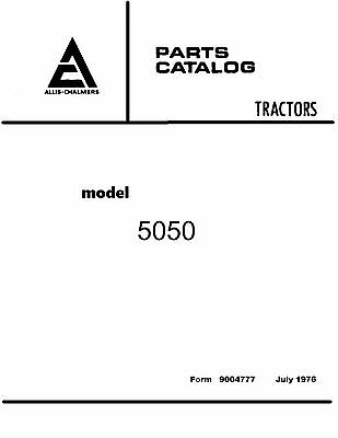 Allis Chalmers 5050 Tractor Parts Catalog Book
