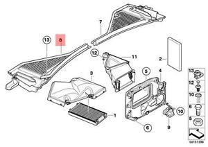 Genuine BMW E70 E71 Cabin Air Filter Microfilter Housing