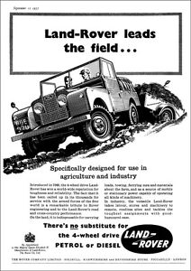LAND ROVER SERIES 1 RETRO A3 POSTER PRINT FROM CLASSIC