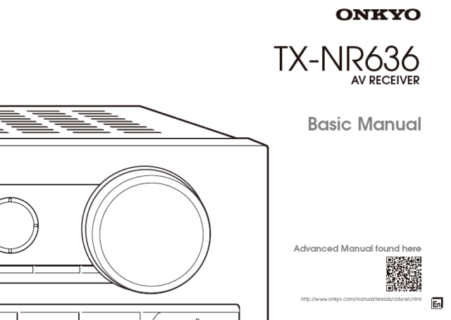 Onkyo TX-NR636 Surround Receiver AV Owners User Operating