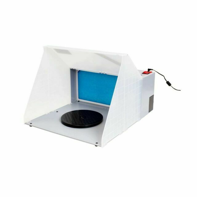 master airbrush b400dc portable spray paint booth with exhaust fan filter