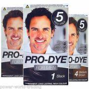 pre dye men's permanent hair