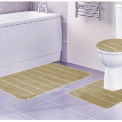 3 Piece Kitchen Rug Set Cost Of Custom Cabinets Louise Bathroom Contour
