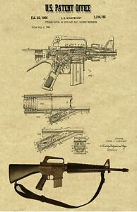 details about vintage ar 15 assault rifle patent art print 11 x 17 laminated poster