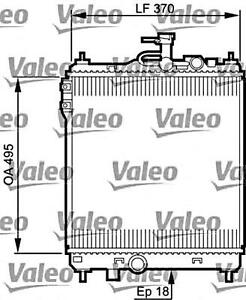 VALEO Engine Cooling Radiator Fits HYUNDAI Click Getz Tb