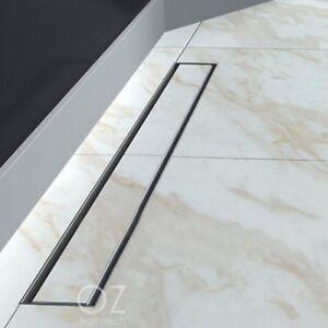 details about 600 800 900 1000 1200 1800mm tile insert linear floor drain shower grate waste