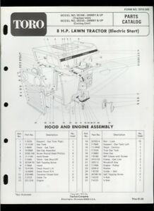 Toro 8HP Lawn Tractor Riding Mower Model 55166 55233