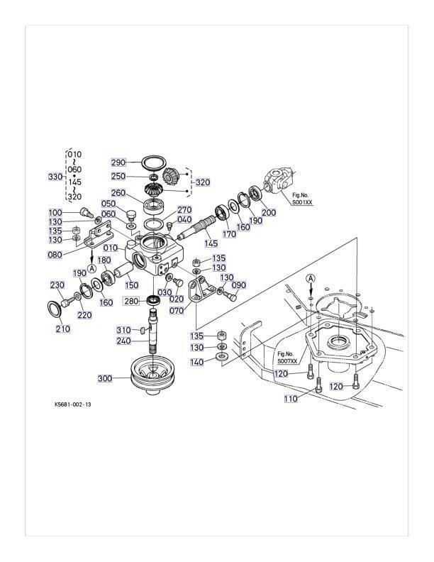 New OEM Kubota Gearbox Gear Box K5677-33100 K5677-33104