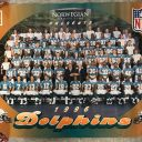 1996 FOOTBALL POSTER *NORWEGIAN CRUSIE LINE 1996 MIAMI DOLPHINS 22X17 PB10