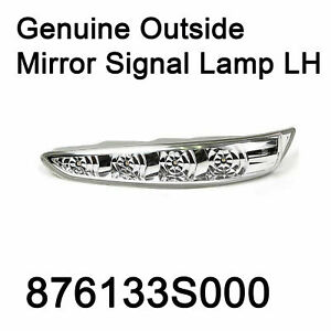Genuine Outside Mirror Signal Lamp LH 876133S000 For
