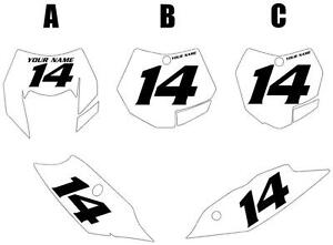 Fits KTM 250XC 2011 Custom Pre-Printed White Backgrounds