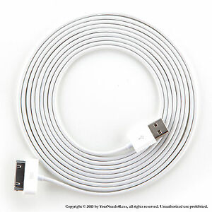 3 x 10ft White Data Sync Charging cable for iPhone 3 3g