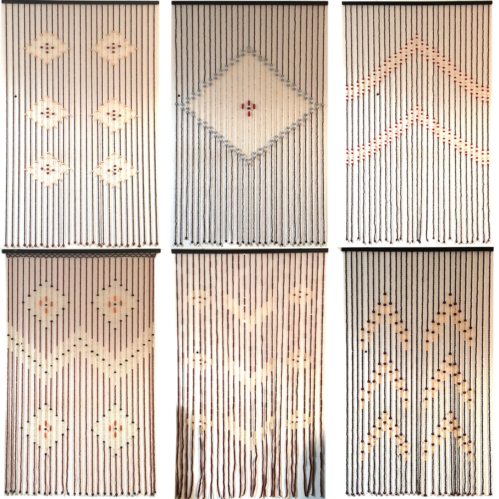 TOP QUALITY BAMBOO BEADED DOOR CURTAINS BLINDS FLY INSECTS DOOR CURTAIN WOODEN EBay